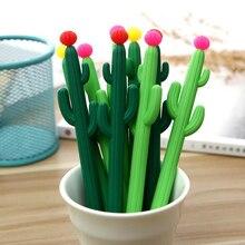Creative novelty cactus black gel pen Student writing gel pen stationery Office School Supplies Pen цена 2017
