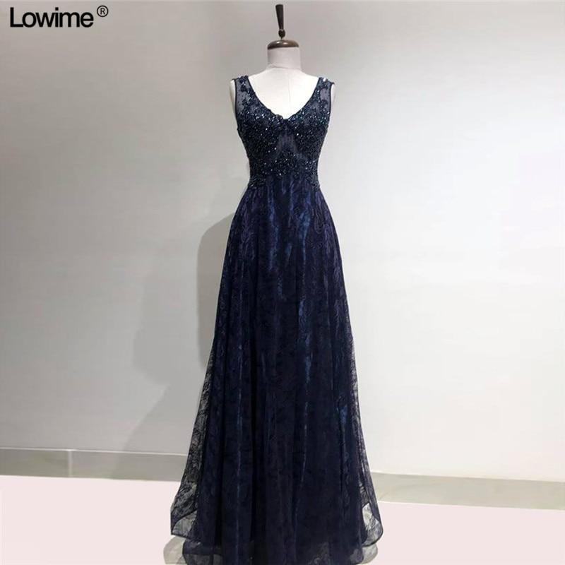 New Sexy V Neck Lace Evening Dresses 2019 Princess Prom Dress Long vestido formatura Women