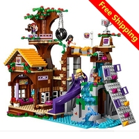 BELA 10497 Adventure Camp Tree House Model Building Kits Compatible With Legoingly City 3D Blocks Educational