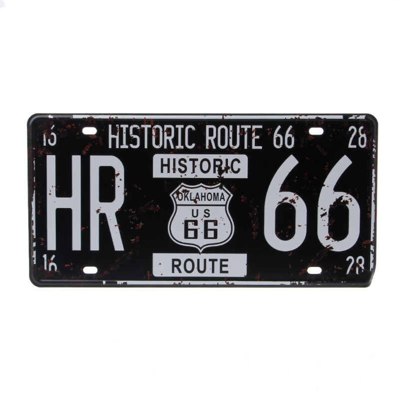 USA Route 66 Car Vintage License Plate Metal Wall Craft Retro Garage Home Decor