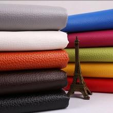 Cuero sintético con relieve, Tela de cuero de imitación para coser, cuero sintético Artificial D30 50x140cm, Lychee, grande, 0,65mm