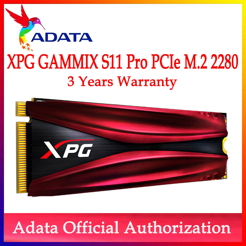 ADATA SSD XPG GAMMIX S11 Pro SSD M2 SSD Hard Drive M.2 256G hard disk For Laptop Desktop 512G PCIe Gen3x4 2280 2