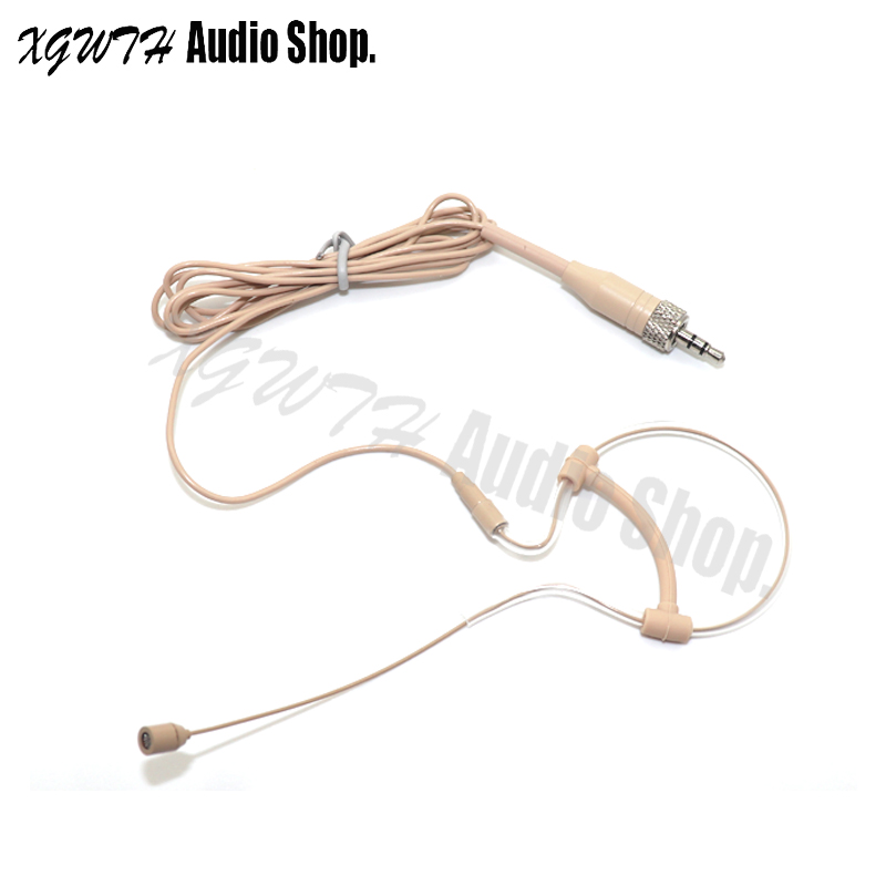 Professional Low Profile Light-weight Mini Wired Headset Microphone 3.5mm Screw Lock for Sennheiser Wireless Microphone System(China)