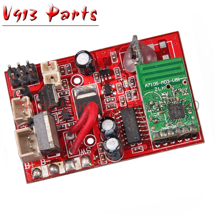 Wholesale V913 Receiver board  Receiving plate for WL V913  RC helicopter WLtoys v913 pcb box Receive Card f09166 10 10pcs cx 20 007 receiver board for cheerson cx 20 cx20 rc quadcopter parts