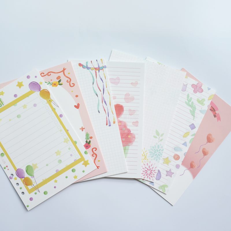 Office & School Supplies Begeistert Maotu Kawaii Farbige Füllstoff Papier Lose Blatt Papier Spirale Notebook Gemischt 100 Blätter/pack A5 A6 A7 Für Mädchen Frauen 6-loch Notebooks & Schreibblöcke