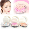 1 PC Makeup Face Powder Colorful meteor Gold Pink Pressed Face Powder Makeup Ball Blusher Rouge Pearl Soft Silky Brighten RP1