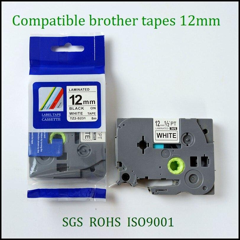 10PK TZe S231 Compatible Strong Adhesive tze Label Tape for Brother TZe S231 TZ S231 TZ