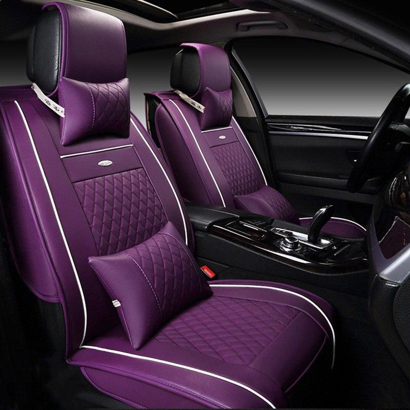 Housses de siège auto en cuir synthétique polyuréthane universelles pour Honda Accord FIT CITY CR-V XR-V élément Odyssey pilote URV accessoires auto - 6
