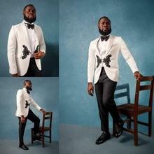 White Men Suits Tuxedo Business 2 Pieces Modern Fit Lined Plus Size 58 60 62+++