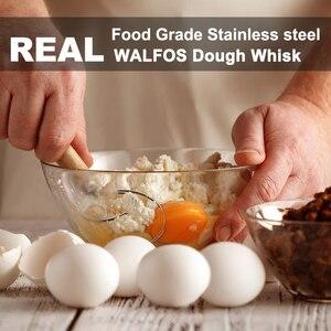 Венчик для теста из нержавеющей стали, миксер для выпечки хлеба, миксер для теста, ручка для яиц, инструменты для выпечки, блендер для кондит...