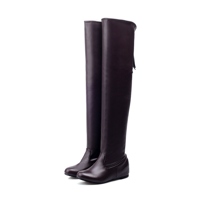 ФОТО Big Size 34-43 Over the Knee Boots for Women Sexy High Heels Long boots Winter Shoes Round Toe Platform Knight Boots  406