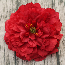 16CM Big Peony Artificial Flower Head Silk DIY Wedding Wall Background Decoration Rose