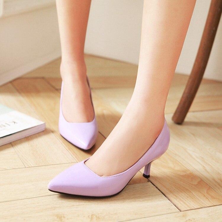 Big Size 11 12 13 14 15 16 17 Ladies High Heels Women Shoes Woman Pumps Pointed, Shallow, Slim-heeled, High-heeled Single Shoe