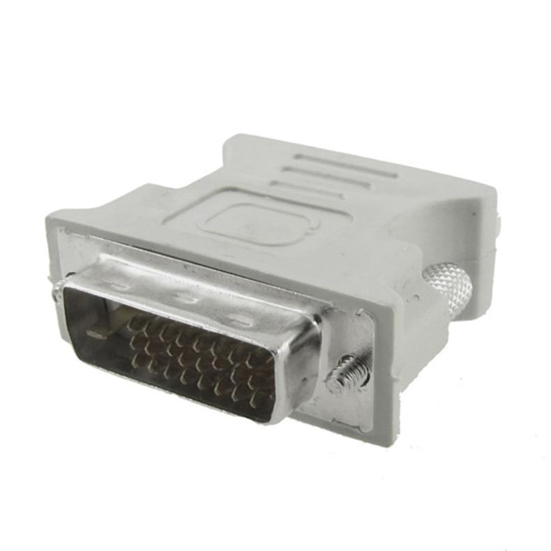 DVI-D vga adaptador conversor DVI-I 24 + 1 pino macho para vga fêmea adaptador conversor conector para lcd hdtv monitor computador proje
