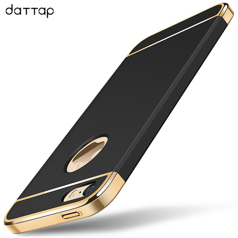 daTTap For iPhone 5s Case 4.0inch For iPhone SE Case Hard PC Plating 3 in 1 Full Cover Case For iPhone 5 5s SE 5SE Coque Fundas
