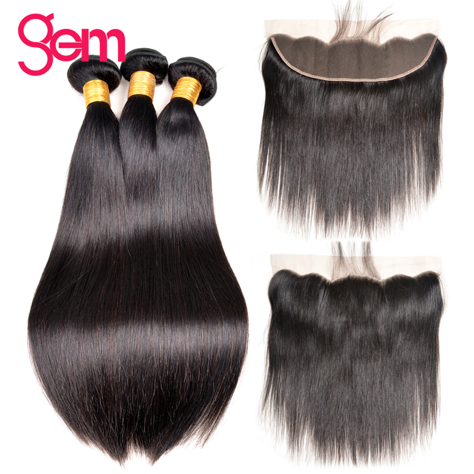13x4 Ear to Ear Lace Frontal Closure With Bundles