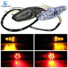 Motorcycle 15 LED Rear Tail Brake Stop Running Turn Signal Light for Suzuki/Honda/Kawasaki