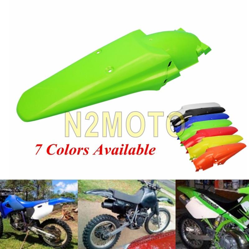 Green Motocross Dirt Bike Rear Fender Mudguard for KTM XC XC KLX KX RM DR YZ Kawasaki KLX Ninja Honda CRF XR CR 125 250 450 500