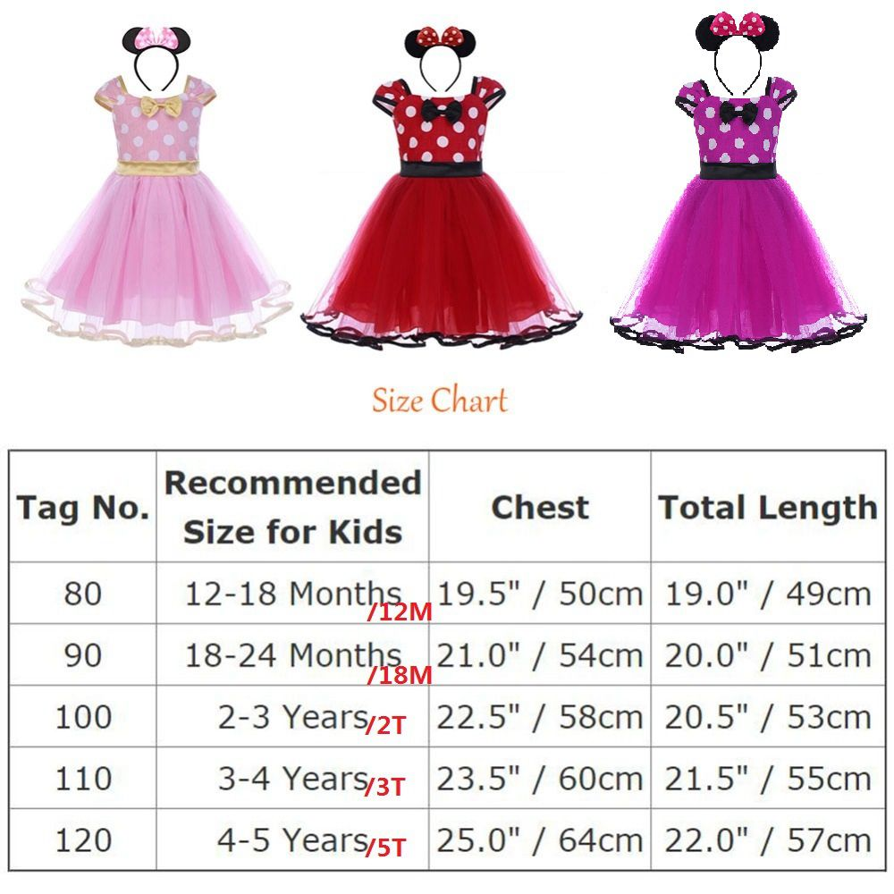 5f25c67cd 2pcs Set Toddler Baby Girls Clothes Polka Dot Tulle Minnie Mouse Dress  Headband Princess Birthday Mickey Mouse Cake Smash Outfit-in Dresses from  Mother ...