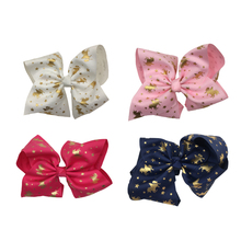 10pcs/lot 4Colors Floral Desgins Kids Ribbon Hair Bow Baby GirlsHair Accessories Without Clip Kidocheese