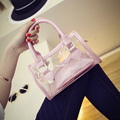 2017 new women transparent plastic bag summer pillow bag beach jelly portable girls small bag