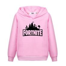 b871a2622 Gamer Fortnite hoodie for kids long sleeve sweatshirt boys cotton casual  clothing teen girl Fortnite sweatshirt child tops 3-14Y