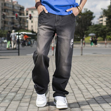 ANBOLUO Hip Hop font b jeans b font for young font b men b font Plus