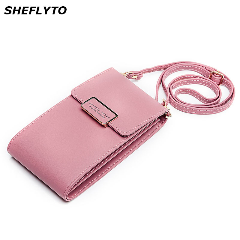 Fashion Women Phone Bag PU Leather Mini Shoulder Message Bags Girls With Coin Purses Crossbody Bags Card Holder Female Luxury 2in1 pu leather shoulder bags female crossbody bags for women wallets and purses with card holder fashion ladies handbags
