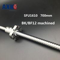 Linear Rail Sfu1610 700mm 16mm Ball Screw Length 700 Mm Plus 1pcs Rm1610 1610 Ballnut Cnc Diy Carving Machine Bk/bf12 Machined