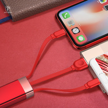 Oatsbasf 3 in 1 USB Cable For iPhoneXR XS Max X 8 plus fast Charger xiaomi redmi note 7 Samsung S9  Phone