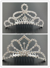 9.5CM Mix 2 Styles 4PCS/lot Bridal Hair Comb Claw Bride Tiaras Alloy & Glass Rhinestone Jewelry Hairwear