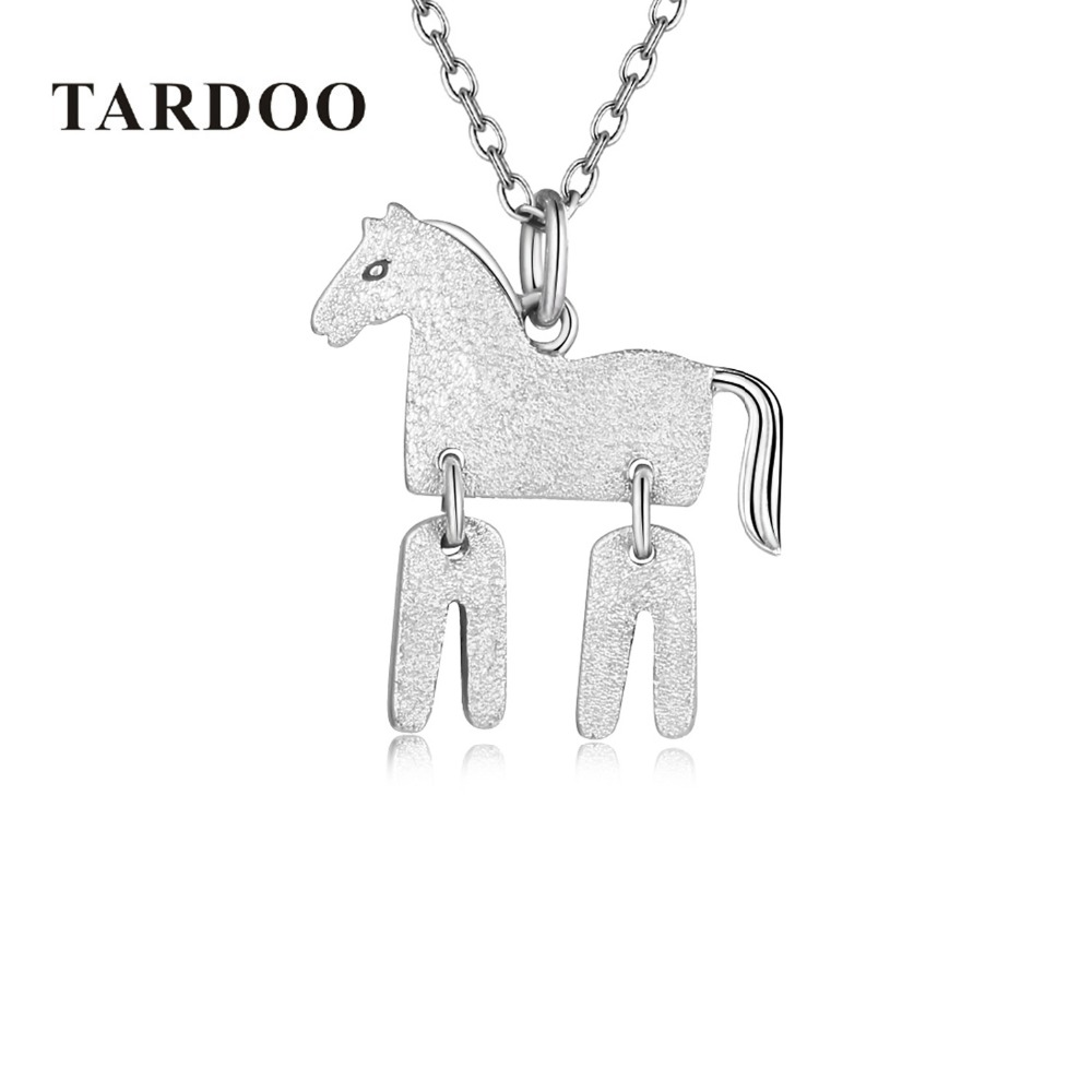 Tardoo Necklace for women Pendant &Necklace Chain 925 Sterling silver horse Trendy Women Jewelry Charms Animal Jewelry hallmarks