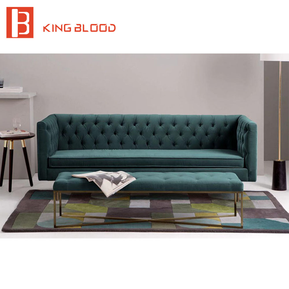 Latest fashion luxury black color velvet sofa set designs for Luxurious loose covered sofas ideas