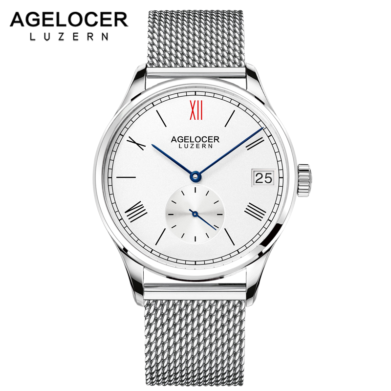 2018 AGELOCER famous Swiss brand male watches luxury mens automatic watch with stainless steel bracelet original gift watch box цена и фото