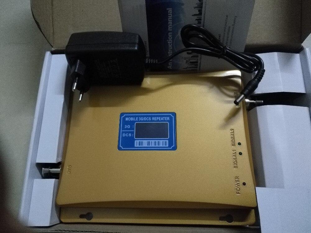 Le plus nouveau Gain de répéteur de 2g 3g 4g 65DB DCS 3G Wcdma répéteur de téléphone portable double bande 1800 MHz 2100 MHz amplificateur de booster de signal mobile