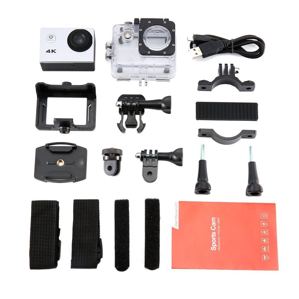 SJ камера 4 K 2,0 дюймовый ЖК-экран Дайвинг 30 м Водонепроницаемая камера Экстремальные виды спорта DV 1080 p мотоцикл автомобиль Спорт на открытом ...