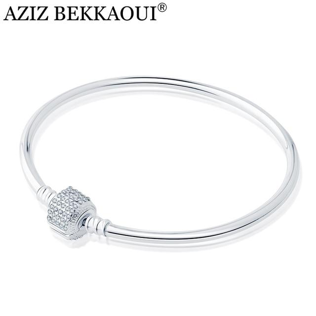 European Original Basic Bangles Fit For Diy Beads Charms