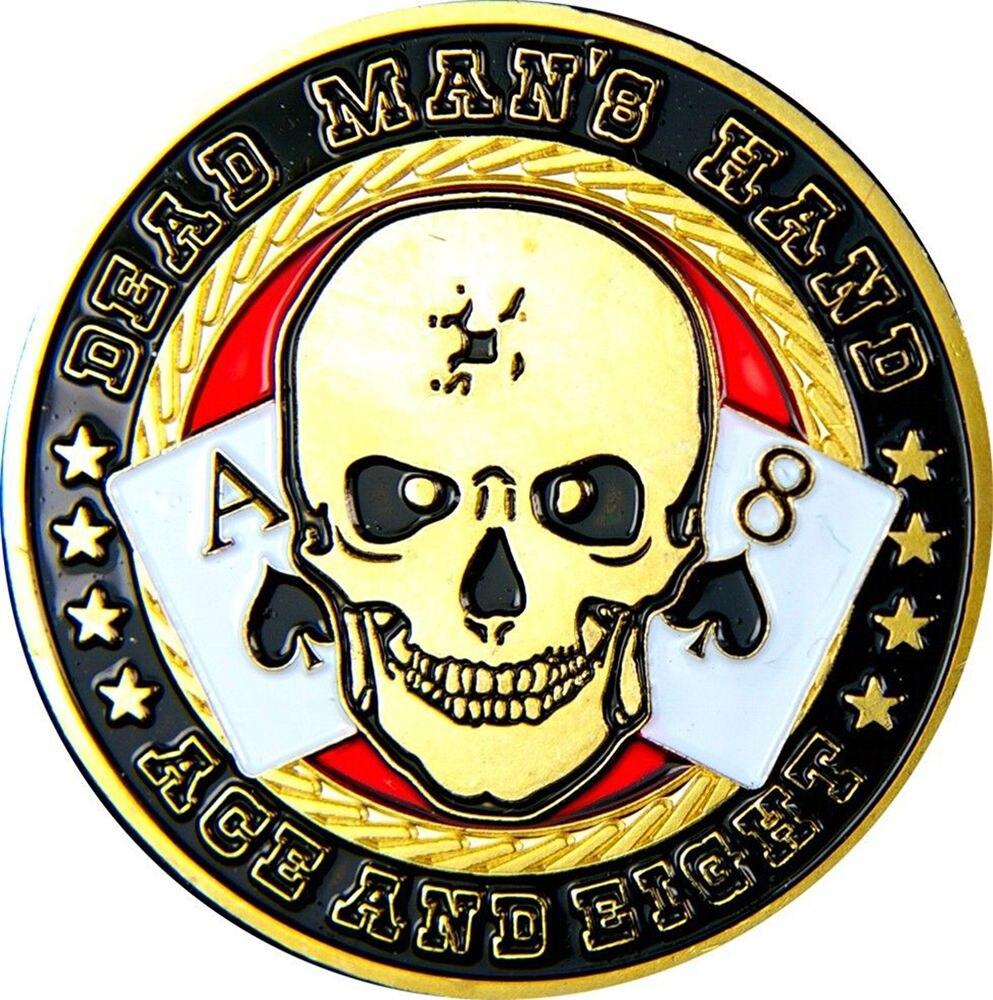 Casino Metal Chip Coin Skull Poker Card Guard Protector Lucky Souvenir Model 2