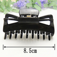 10 pcs  Large Black Claw type Hairpin Hair Clips Claws Clamps Plastic Female Headdress Girls Accessories WEIJUN