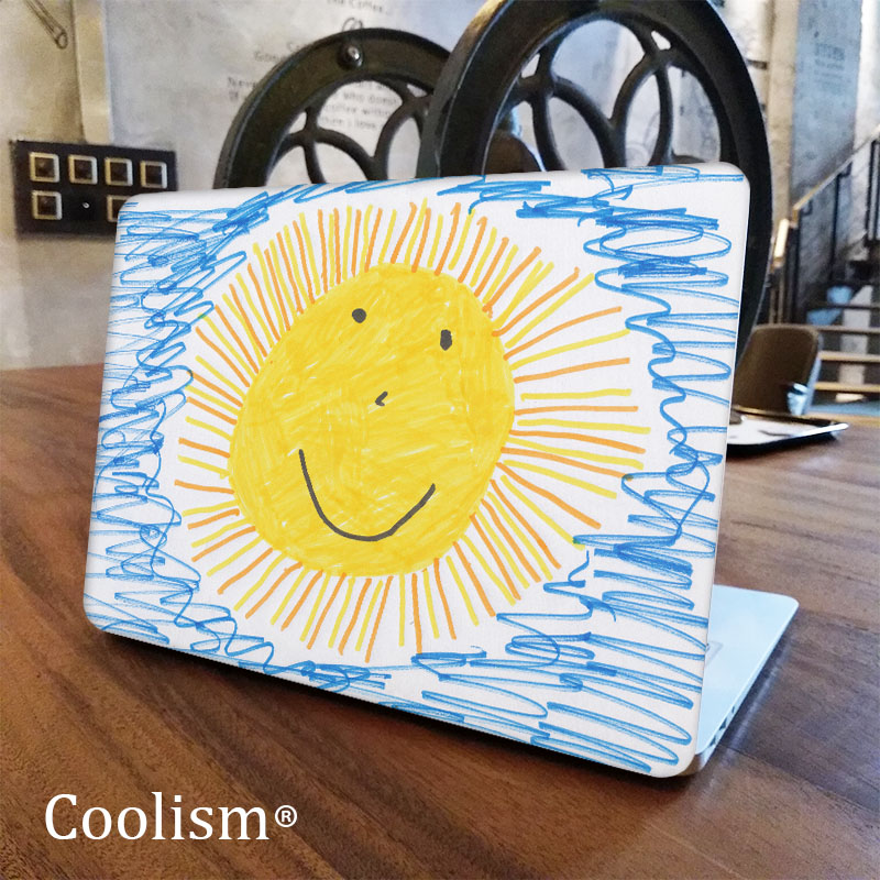Kids Doodle Sun Laptop Sticker Decal for Apple Macbook Pro Air Retina 11 12 13 15 inch Mac Protective Notebook Full Cover Skin