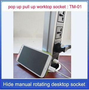 Image 3 - Pop UP/Werken tafel socket/verborgen/Universal power plug/EU plug/USB Opladen office desktop socket/keuken socket TM 01