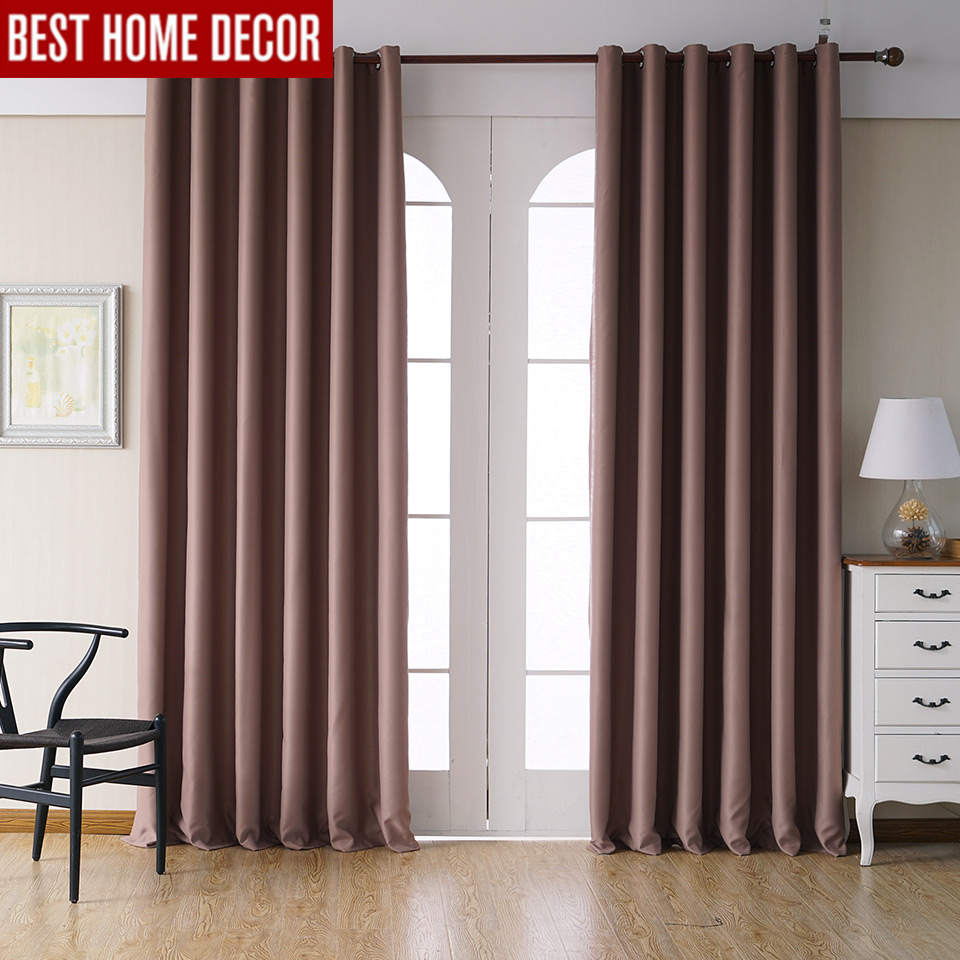 Modern window sill - Modern Blackout Curtains For Living Room Bedroom Curtains For Window Drapes Brown Finished Blackout Curtains 1