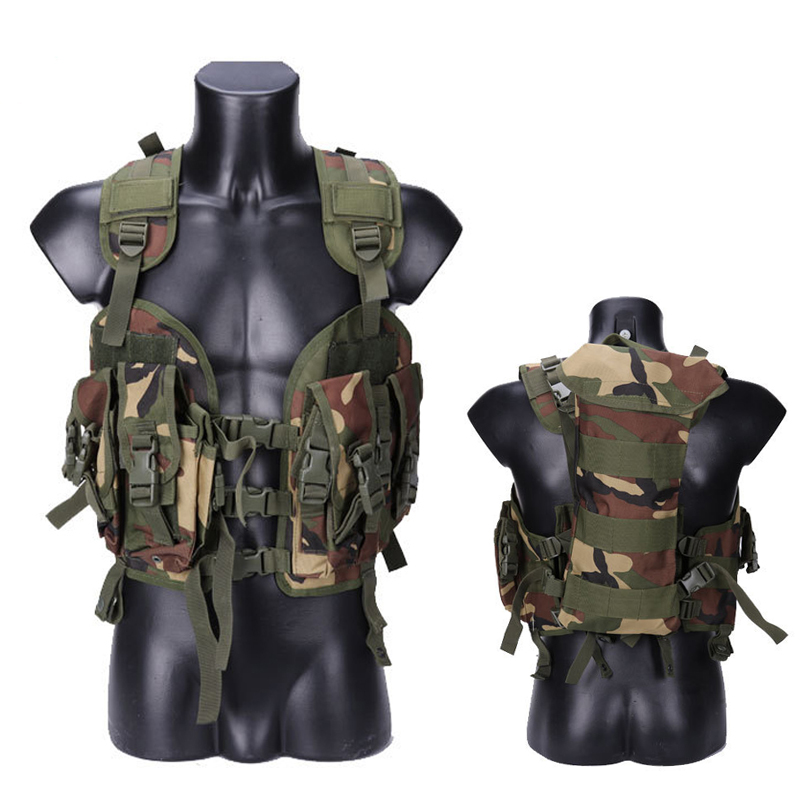 Seal Tactical Vest Camouflage Military Army Combat Vest For Men Hunting War Game Airsoft Outdoor Sport Vest With Water Bag outdoor military war game multi function oxford cloth bag army green
