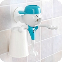 HOT Bathroom Accessories Products Automatic Toothpaste Dispenser Toothbrush Holder Set Tooth Glass Wall Mount Rack Bath