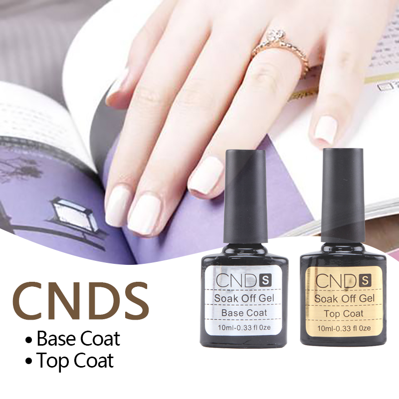 10ML Hot Sell Nail Gel Top Coat Top it off + Base Coat Foundation For UV Gel Polish Soak Off Varnish Manicure Nail Gel