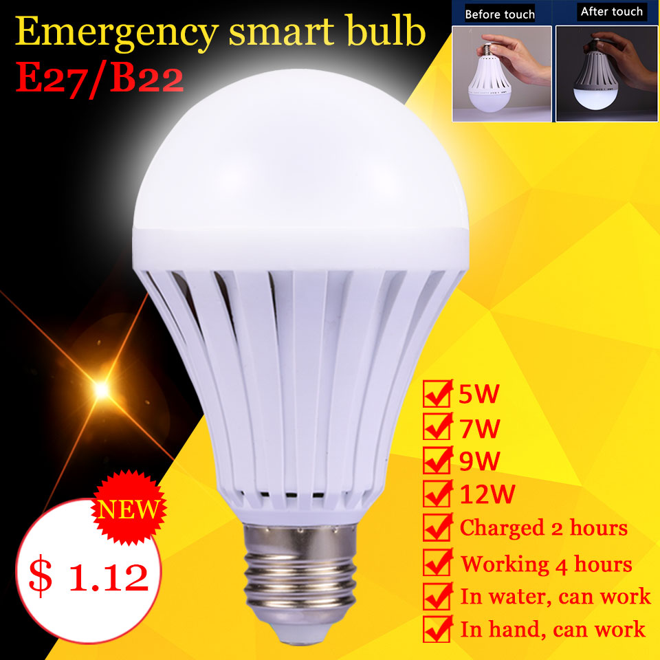 e27 led emergency bulb 220v 5w 7w 9w 12w b22 magical light rechargeable bulb led lighting. Black Bedroom Furniture Sets. Home Design Ideas