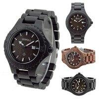 Hot Sale Bewell Men S Natural Wooden Wristwatch Wood Watch Quartz With Date Box Erkek Kol
