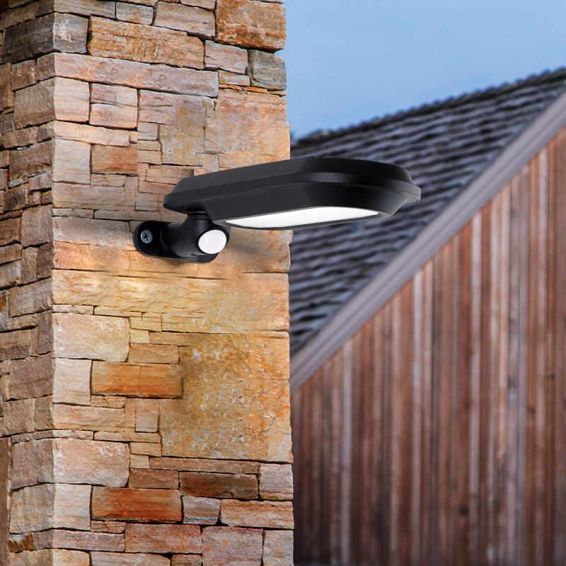 Arriba abajo IP44 Led exterior impermeable iluminación de pared solar lámpara con Sensor de movimiento para exterior terraza de jardín