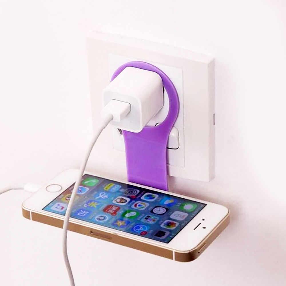2 個ポータブルプラスチック携帯電話トレイ壁マウント折りたたみユニバーサル電話充電オーガナイザー収納ラックシンク 2018