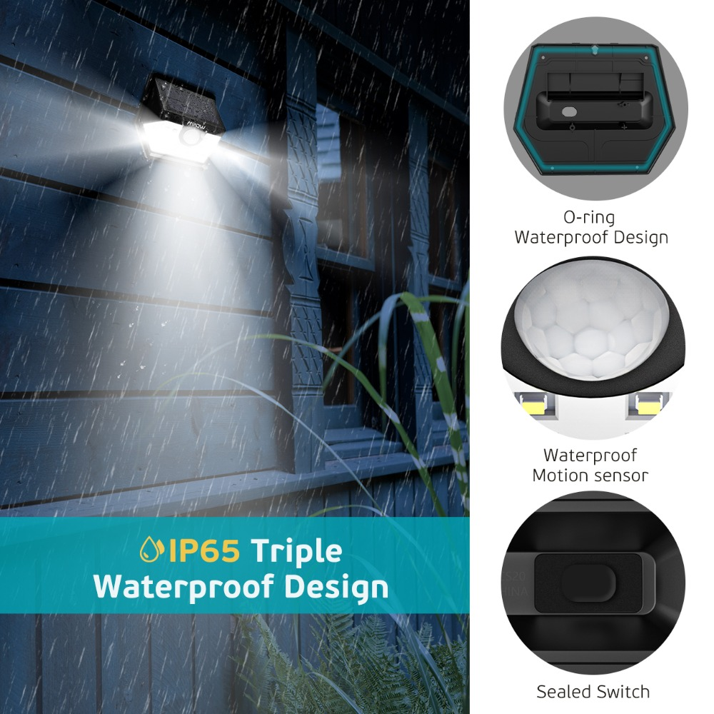 Mpow CD149 20 LED Solar Light Super Bright Lights Waterproof Outdoor Lamp With Sensitive Motion Sensor For Garden Garage Pathway